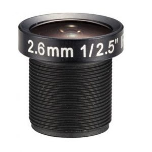 2.6mm 8Megapixel S Mount cctv lens for 12.5 inch sensor F2.0