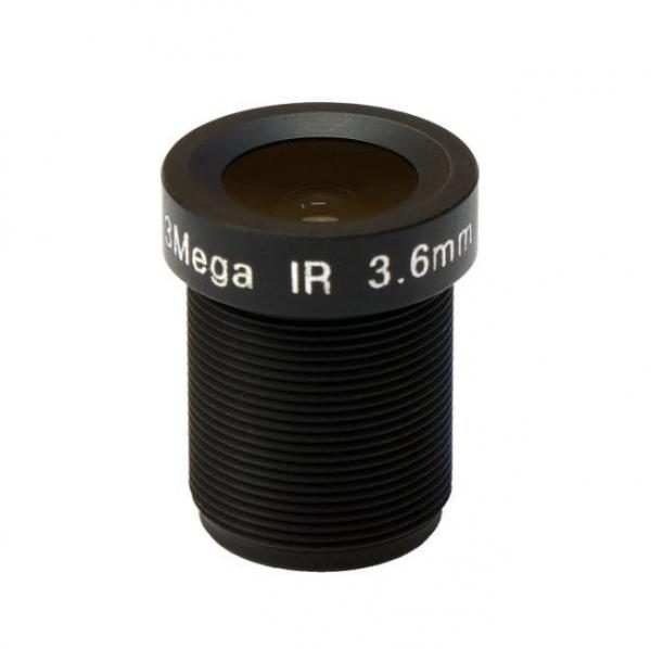 3.6mm 3Megapixel S mount lens for 12.7 inch sensor IR F1.2