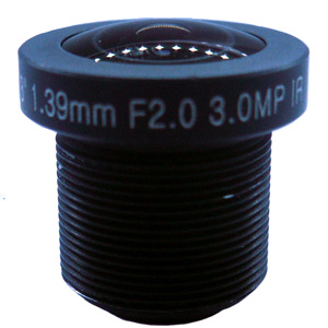 1.39mm 3Megapixel M12 Mount IR Fisheye Lens